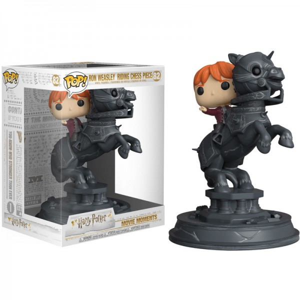 Funko POP! Movie Moments: Harry Potter - Ron Riding Chess Piece